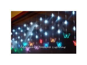 NEW!LED christmas bulb ceiling decoration 0.65*6m White H200
