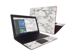 """Skin Decal Wrap for Lenovo IdeaPad 100s 11.6"""" White Marble"""