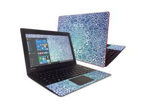 """Skin Decal Wrap for Lenovo IdeaPad 100s 11.6"""" Carved Blue"""