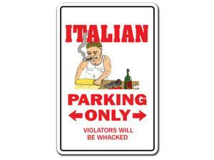 ITALIAN Decal parking Italy mafia mobster food pizza mob