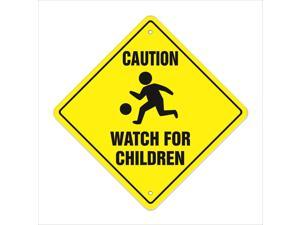 Caution Watch For Children Crossing Decal Zone Xing slow playing at play