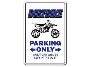 DIRTBIKE Parking Decal bmx racing cycle bike racing Tall