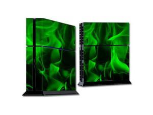Skin Decal Wrap for Sony PlayStation 4 PS4 Console sticker Green Flames