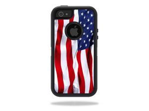 Skin Decal Wrap for OtterBox Defender iPhone 5/5s/SE Case sticker American Flag