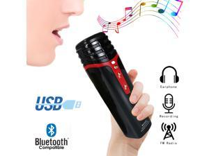 Wireless Bluetooth Karaoke Microphone with Built in Bluetooth Speaker All-in-One Karaoke Machine Mic | Compatible with Android & iOS iPhone - Black Color