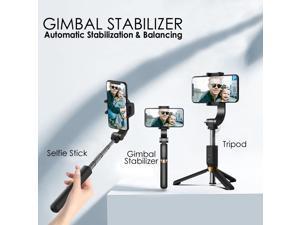 GTS Auto Calibrating SmartPhone Gimbal Stabilizer, Tripod & Selfie Stick w/ Wireless Remote, Vlog YouTube Live Video Stream Stabilizer