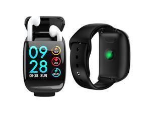 M8 1.3-inch SmartWatch Sport Tracker & TWS Earbuds + BT 5.0 Sync + Pedometer + BPM/Blood Pressure/Oxygen(SPO2)