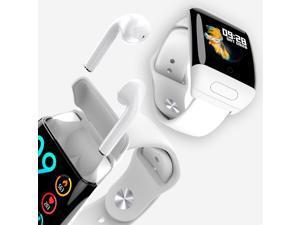 1.3-inch M8 BT 5.0 SmartWatch & Wireless Earbuds - Universally Compatible + Pedometer + BPM/Blood Pressure/Oxygen(SPO2)