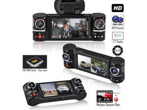 "Indigi Dash Cam Recorder - Dual Wide Angle Lens - Motion Activate - 2.7"" Split LCD"