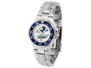 University of Akron Zips Ladies Stainless Steel Watch