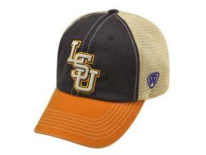 ba20aba8ee9a LSU Tigers Top of the World Purple Yellow Offroad Adjustable Snapback Hat  Cap