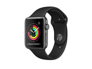 Apple Watch Series 3 GPS Only 38MM Space Gray Aluminum Case & Black Sport Band