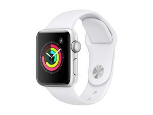 Apple Watch Series 3 GPS w/ 38MM Silver Aluminum Case & White Sport Band