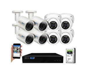 GW 8 Channel H.265 HEVC NVR w/ 4K HDMI Output 5MP Security System, 8 x HD 5MP IP PoE Camera (2592 x 1920p) In/Outdoor Digital WDR - 5 Megapixel (More Pixels Than 1080P, 300% More Detailed Than 720P)