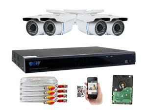 GW Security 5MP 2592 x 1920P High Resolution CCTV Camera Security System, 8 Channel H.265 DVR, 4 x 5MP Full HD (2592 x 1920) In / Outdoor IP Cameras (1TB HDD Included)
