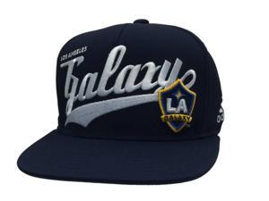 284735698e786 Los Angeles LA Galaxy Adidas YOUTH Navy Adjustable Snapback Flat Bill Hat  Cap