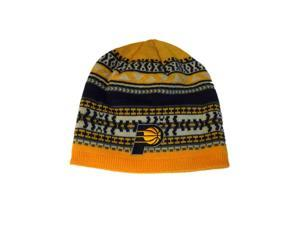 fdb9cb88a5638 Indiana Pacers Adidas Yellow Navy Pattern Acrylic Knit Skull Beanie Hat Cap