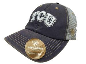 TCU Horned Frogs TOW Purple Gray Past Mesh Adjustable Snapback Slouch Hat  Cap a73f97cb0c6b