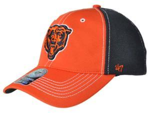 209159a32c7a5 Chicago Bears 47 Brand Orange Navy Mesh Closer Performance Flexfit Hat Cap