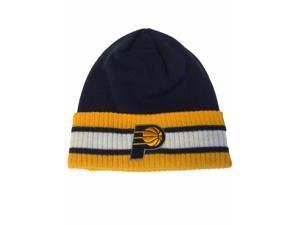 8f7070d19c6 Indiana Pacers Adidas Navy Acrylic Knit Yellow Cuffed Skull Beanie Hat Cap