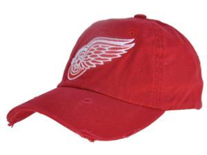 1458279ccb6 Detroit Red Wings Retro Brand Red Worn Vintage Flexfit Slouch Hat ...
