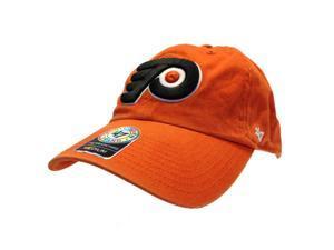 98103ecaa5723 Philadelphia Flyers 47 Brand Orange Black Franchise Fitted Slouch Hat ...