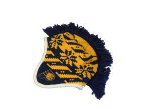 697aeb38ba6 Indiana Pacers Adidas Yellow Navy Pattern Beanie Hat Cap ...