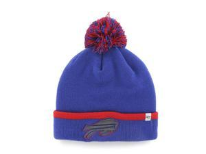 3aa4f1c2a81 Buffalo Bills 47 Brand Blue Red Baraka Knit Cuffed Poofball Beanie Hat Cap