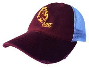 904a78b6729 Arizona State Sun Devils Retro Brand Maroon Worn Mesh Vintage Adj Snap Hat  Cap