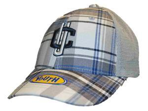 17c35980618 Connecticut Huskies Top of the World Youth Gray Plaid Adjustable Hat Cap
