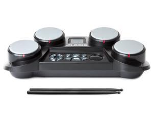 Alesis CompactKit 4 Portable Electronic Drum Kit with Coach Feature and Game Function - incl. drumsticks