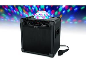 Ion Audio Party Rocker Plus Rechargeable Speaker with Spinning Party Lights