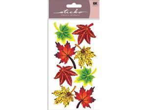 Sticko SPVM-08 Sticko Vellum Stickers-Maple Leaves