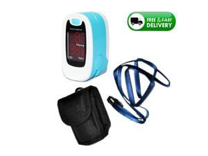 Fingertip Finger Pulse Oximeter LED Dispaly SpO2 Heart Pulse Rate Monitor Blood Oxygen Saturation Oxymetre Oximetry,Pouch+Lanyard free