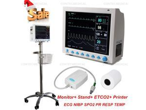 CONTEC CMS8000 Vital Signs Patient Monitor Multi Parameters Capnograph CO2+Stand+Printer ICU/CCU