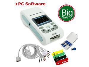 CONTEC ECG90A Handheld 12-lead ECG machine 12 channel Electrocardiograph,Touch screen,USB+PC software