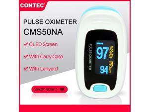 CONTEC Color OLED Finger Pulse Oximeter Fingertip Blood Oxygen Monitor SPO2 PR Heart Rate Meter CMS50N