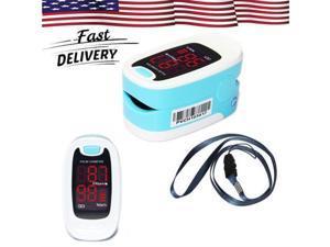 CMS50M Finger Pulse Oximeter Portable Heart Rate Monitor SpO2 Blood Oxygen Meter LED Display