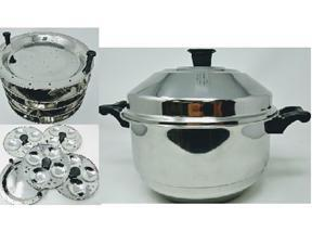 Tabakh Multi Purpose 4-Rack Stainless Steel Idli Cooker With Stand