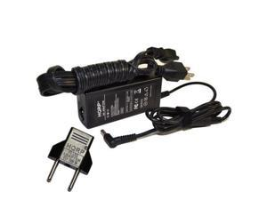HQRP AC Adapter for HP 15-d005au / 15-d006au / 15-d007ee / 15-d007se / 15-d008ee / 15-d008se / 15-d010ca Laptop / Notebook, Charger Power Supply Cord + HQRP Euro Plug Adapter