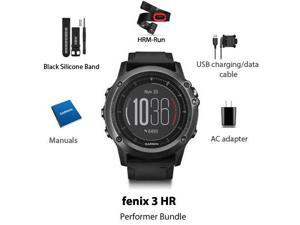 Garmin Fenix 3 HR Performer Bundle Multisport GPS Watch with HRM-Run