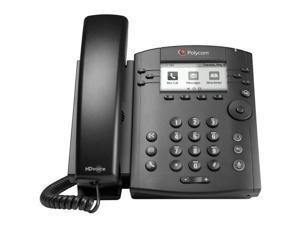 Polycom 2200-48350-025 VVX 311 Corded Business Media Phone System, 6-Line, WW PoE