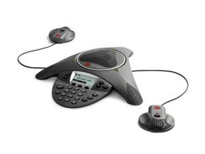Polycom 2200-15600-001 w/ EX Mics SoundStation IP 6000 Conference Phone POE