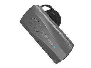 Motorola Bluetooth Mono HK105 Headset, Wireless Media Streaming, Amazon Alexa Enabled - Black