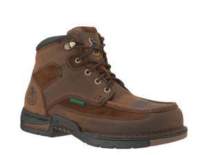 "GEORGIA G7403 6"" WP Athens Moc-Toe Brown Shoes Mens 11"