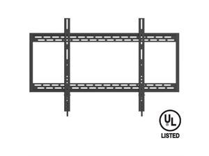 "QualGear® UL Listed Heavy Duty Fixed TV Wall Mount for Most 60""-100"" Flat Panel and Curved TVs, Black (QG-TM-090-BLK)"