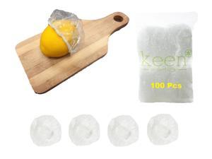 """100 Pcs Disposable Elastic Food Lid, Perfect for Cup Cover, Lemon Wrap, Party, Picnic, Outdoor Camping, Home Kitchen Restaurant Storage Supply, Mini Size 4.5"""""""