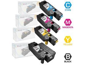 LD © Compatible Replacements for Dell Color Laser C1660w Set of 4 Laser Toner Cartridges Includes: 1 332-0399 Black, 1 332-0400 Cyan, 1 332-0401 Magenta, and 1 332-0402 Yellow