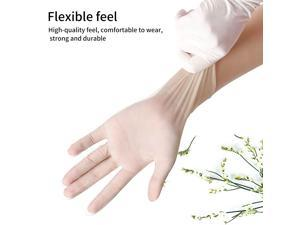 Disposable gloves, 100 PCS PVC Thicken Disposable gloves, Transparent, Good elasticity, waterproof, Healthy material, Suitable for dishwashing, Beauty, Cleaning -XL Size
