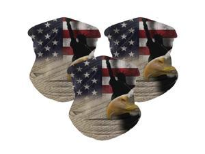 3pcs Microfiber American flag Outdoor headband scarf set men and women sun protection sports riding magic face scarf head wrap fishing cover